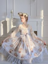 Dress Autumn of 2019 Pink, off white, grey blue S,M,L
