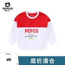 T-shirt Classic red drama butter lacquer blue cherry powder Pepco / Piggy banner 80cm 90cm 100cm 110cm 120cm neutral spring and autumn Long sleeves Crew neck leisure time No detachable cap other other Cotton 88.7% polyurethane elastic fiber (spandex) 11.3% other Winter of 2019