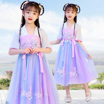 Tang costume 100 110 [suggested height 96-105cm] 120 [suggested height 106-115cm] 130 [suggested height 116-125cm] 140 [suggested height 126-135cm] 150 [suggested height 136-145cm] 160 [suggested height 146-155cm] 170 Polyester 100% female summer There are models in the real shooting Thin money