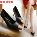Sandals Black, red, beige PVC chemical fiber Other / other Baotou Fine heel Flat heel (1cm or less) Spring 2021 leisure time Cool boots