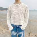T-shirt Youth fashion Black, white routine S,M,L Others Long sleeves Crew neck easy Other leisure spring youth routine Exquisite Korean style 2021