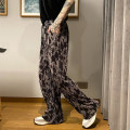 Casual pants Others Youth fashion Black and white, black and gray M,L,XL routine trousers Other leisure easy Micro bomb summer youth Exquisite Korean style 2021 Medium low back Straight cylinder No iron treatment cotton cotton Non brand