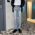 Jeans Youth fashion Others S,M,L,XL Blue, black routine trousers Other leisure winter youth Medium high waist Exquisite Korean style 2021