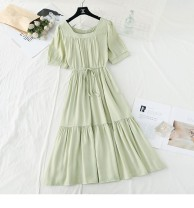 Dress Summer 2021 Gray, black, watermelon red, apricot, green, white Average size Other / other