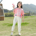 suit Mengjia class Pink white 120cm 130cm 140cm 150cm 160cm 170cm female summer Korean version Short sleeve + pants 2 pieces Thin money There are models in the real shooting Socket nothing Cartoon animation other children MJB-21132 Class B Other 100% Summer 2021