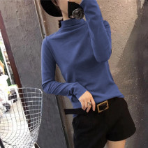 T-shirt M L XL Autumn 2020 Long sleeves Half high collar Self cultivation Regular routine commute polyester fiber 86% (inclusive) -95% (inclusive) 18-24 years old Korean version youth Love Mengwei 8031-19 Polyester 95% polyurethane elastic fiber (spandex) 5% Exclusive payment of tmall