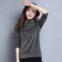 T-shirt M L XL Winter 2020 Long sleeves High collar Self cultivation Regular routine commute polyester fiber 86% (inclusive) -95% (inclusive) 18-24 years old Korean version youth Love Mengwei Polyester 95% polyurethane elastic fiber (spandex) 5% Exclusive payment of tmall