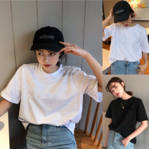 T-shirt M L XL XXL Summer of 2019 Short sleeve Crew neck easy Regular routine commute other 96% and above 18-24 years old Korean version youth letter Jia Rouzi 3D splicing Other 100% Pure e-commerce (online only)