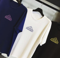 T-shirt Youth fashion White, navy blue, Navy green, yellow, black routine S. M, l, XL, XS (this is the smallest size) chaorenbaihuo Short sleeve Crew neck standard daily Four seasons