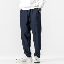 Casual pants Others Youth fashion Navy (k175), black (k175), gray (k175), khaki (k175), white (k175), Navy (plush; k175), black (plush; k175), gray (plush; k175), Navy (plush: 7893), black (plush: 7893) Plush and thicken trousers Other leisure easy No bullet winter youth Chinese style 2020 washing