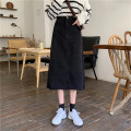 skirt Spring 2021 S,M,L black Mid length dress Versatile High waist A-line skirt Solid color Type A Under 17 A35 31% (inclusive) - 50% (inclusive)