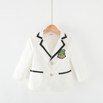 Suit / Blazer H50 white, np86 black, H43 black, H02 black 90xxs, 100xs, 110s, 120m, 130L, 140xl, 150xxl, 160xxl Other / other male No model Korean version spring and autumn Solid color Single breasted routine blending Class B Polyester 80% viscose 20% H50