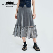 skirt Summer of 2019 XS S M Middle-skirt Natural waist More than 95% Initial polyester fiber Polyester 100% Same model in shopping mall (sold online and offline)