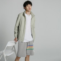 Jacket Other / other Youth fashion Light grey, bean green M,L,XL,2XL standard Other leisure Spring and summer SW210411270011 Long sleeves Wear out Hood tide youth routine 2021