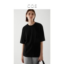 T-shirt black 165/88A 160/80A 170/96A 175/104A Spring 2021 Short sleeve Crew neck easy Regular routine commute cotton 96% and above 30-34 years old Simplicity COS Cotton 100% Same model in shopping mall (sold online and offline)