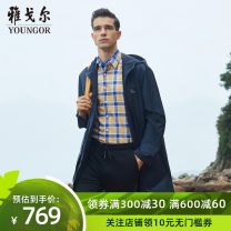Jacket Youngor other Tibetan green 170/92A 175/96A 180/100A routine standard Other leisure spring Polyester 100% Long sleeves Wear out Hood youth long Zipper placket Spring 2020 Pure e-commerce (online only)