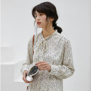 Dress Spring 2021 Picture color Average size Mid length dress singleton  Long sleeves commute other High waist Decor Socket other Others 18-24 years old Korean version 31% (inclusive) - 50% (inclusive) Chiffon