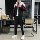 Leisure sports suit spring M,L,XL,2XL,3XL,4XL White, red, green Long sleeves trousers youth Sweater cotton 2021