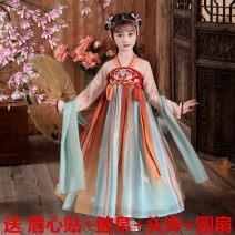 Hanfu other 3 years old, 4 years old, 5 years old, 6 years old, 7 years old, 8 years old, 9 years old, 10 years old, 11 years old, 13 years old, 14 years old and above Chiffon fresh female Holiday partner 100 110 120 130 140 150 160 170