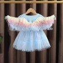 Dress female Dr. Black  Cotton 100% summer Korean version Short sleeve bow cotton Princess Dress 2021.5.11B04 Class A 12 months, 9 months, 18 months, 2 years old, 3 years old, 4 years old, 5 years old, 6 years old, 7 years old Chinese Mainland Zhejiang Province Huzhou City