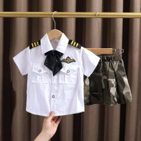 suit Dr. Black  neutral spring and autumn college Short sleeve + pants 2 pieces Thin money No model Single breasted nothing camouflage cotton 2021.5.11B01 Class A Cotton 100% Chinese Mainland Huzhou City Zhejiang Province Suit man, suit woman 90cm,100cm,110cm,120cm,130cm,140cm