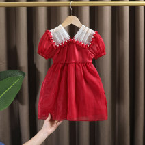 Dress female Dr. Black  Other 100% summer princess Short sleeve Silk and satin Solid color A-line skirt 2021.5.7B03 Class A 7 years old, 12 months old, 3 years old, 6 years old, 18 months old, 9 months old, 2 years old, 5 years old, 4 years old Chinese Mainland Zhejiang Province Huzhou City