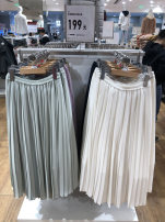 skirt Autumn 2020 S,M,L Black, light beige, apricot yellow, olive green longuette High waist Solid color 25-29 years old