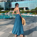 Dress Autumn 2020 royal blue S M L longuette singleton  Sleeveless Sweet other High waist Solid color Socket Big swing Hanging neck style 18-24 years old Type A Mei Xin Lace with ruffles GGNE80920 More than 95% other other Other 100% Bohemia Pure e-commerce (online only)