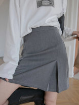 skirt Summer 2021 S M L Smoke grey classic black Short skirt commute High waist other More than 95% Jiamanying other Korean version Other 100% Pure e-commerce (online only)