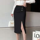 skirt Spring 2021 S M L XL Black apricot longuette Versatile High waist skirt Solid color Type H 25-29 years old 91% (inclusive) - 95% (inclusive) Leisure trace other zipper New polyester 95% other 5% Pure e-commerce (online only)