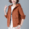 short coat Spring 2021 M L XL 2XL 3XL 4XL Jfl-1f159-b-1208 # blue jfl-1f159-b-1208 # Caramel Long sleeves routine routine singleton  easy street routine Hood zipper Solid color Pamilo 96% and above 1208 real shot# other Other 100% Pure e-commerce (online only)