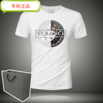 T-shirt Youth fashion Plush and thicken M,L,XL,2XL,3XL,4XL Versace Short sleeve Crew neck Self cultivation daily summer Modal fiber (modal) 49.6% cotton 44.4% polyurethane elastic fiber (spandex) 6% youth routine Simplicity in Europe and America Cotton wool 2020 character Hot drilling modal