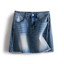 skirt Summer 2021 Short skirt Natural waist other commute More than 95% Solid color polyester fiber 25-29 years old Other / other LKK3733 other Korean version S,M,L Light denim