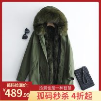 leather and fur Winter of 2019 Other / other Black, army green S,M,L have more cash than can be accounted for Long sleeves commute Hood routine zipper other Korean version 25-29 years old 96% and above