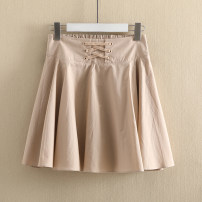 skirt Spring of 2019 S,M,L,XL Short skirt commute Natural waist other Solid color 25-29 years old More than 95% other Other / other cotton Korean version