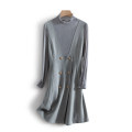 Dress Spring 2021 Gray blue S,M,L,XL longuette singleton  Long sleeves commute middle-waisted other Socket other routine Others 25-29 years old Other / other Korean version 51% (inclusive) - 70% (inclusive) other