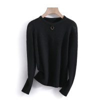 sweater Spring 2021 S,M,L black Long sleeves Socket singleton  Regular other 95% and above Crew neck thickening commute routine Solid color Straight cylinder Regular wool Keep warm and warm 25-29 years old Other / other VV183111529