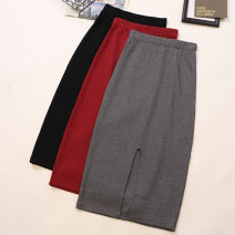 skirt Summer 2021 Average size Black, dark grey, red, light grey Mid length dress commute High waist skirt Solid color Type A 18-24 years old 2047# 51% (inclusive) - 70% (inclusive) other Other / other other Korean version