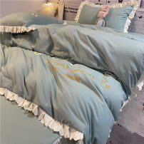 Bed skirt polyester fiber Bean green [main picture], bean paste, light gray, sea green, blue, water blue, jade, purple Other / other Plants and flowers Qualified products