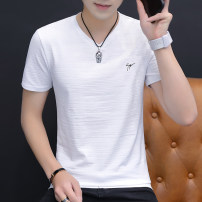 T-shirt Youth fashion Other routine Short sleeve V-neck standard daily summer T122 Cotton 95% polyurethane elastic fiber (spandex) 5% youth routine tide other 2020 Solid color printing cotton other Non iron treatment Non brand 90% (inclusive) - 95% (inclusive) M,L,XL,2XL,3XL,4XL