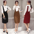 Dress Spring of 2019 Khaki, black, jujube M,L,XL,2XL Mid length dress singleton  Long sleeves commute Crew neck middle-waisted routine straps 25-29 years old other Ol style HBLJR9940-1