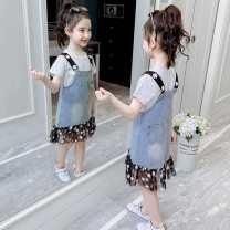 Dress White single strap skirt - 110100cm or so, white single strap skirt - 120110cm or so], white single strap skirt - 130120cm or so, white single strap skirt - 140130cm or so, white single strap skirt - 150140cm or so, white single strap skirt - 160150cm or so female Other / other Other 100%