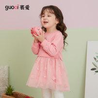 Dress Pink female Love 80cm 90cm 100cm 110cm 120cm 130cm Cotton 82% polyester 18% spring and autumn princess Long sleeves animal cotton A-line skirt MC1115 Spring 2021 12 months, 2 years, 3 years, 4 years, 5 years, 6 years Chinese Mainland Guangdong Province Foshan City
