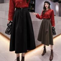 Parent child fashion Black, dark coffee Women's dress female Ou Le Ting S,M,L,XL Solid color 12 months