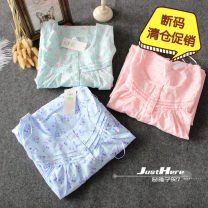 Nightdress Other / other Small peony light pink, light pink purple + rose red long flower, big Peony light pink, pure light pink 8,10,12,16,20,22,26 Sweet Sleeveless Living clothes longuette summer Plants and flowers youth Crew neck polyester cotton printing polyester cotton