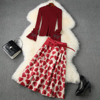 Pajamas / housewear set male Other / other S,M,L,XL Red, black wool Long sleeves