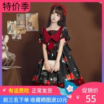 Dress Summer 2020 Only black suspender skirt, only red suspender skirt, only blue suspender skirt, only black short sleeve dress, only red short sleeve dress, only blue short sleeve dress, only white shirt, sleeves, hair accessories and other small things S,M,L Short skirt singleton  Short sleeve
