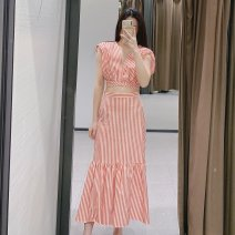 Dress Spring 2021 Striped top, striped skirt XS,S,M,L TRAF