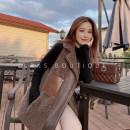 leather and fur Autumn 2020 Lierkiss Obsidian black vest, brown vest S,M,L L04PCH273