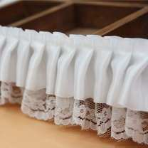 lace White is 6cm wide and 1m long, pink is 6cm wide and 1m long, purple is 6cm wide and 1m long Fadson